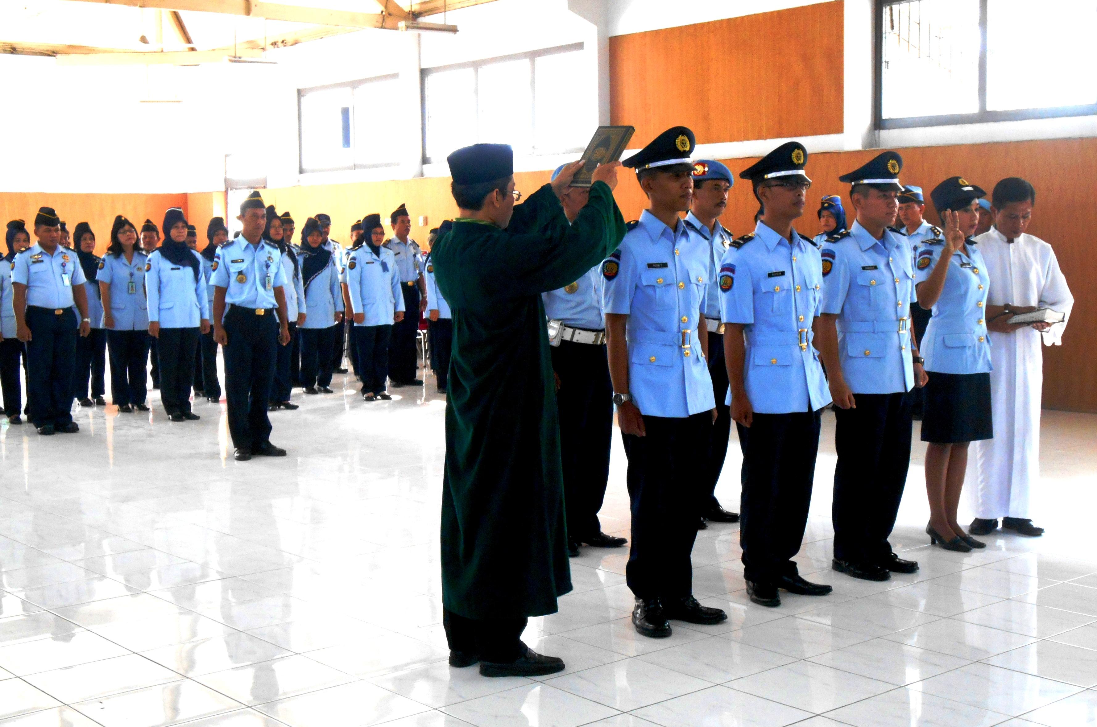 Empat Pegawai Lapas Yogyakarta Diambil Sumpah PNS
