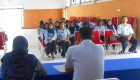 Pegawai Lapas Kelas IIA Yogyakarta terlihat antusias mengikuti acara sosialisasi TB HIV di aula lapas pada Senin (5/5).