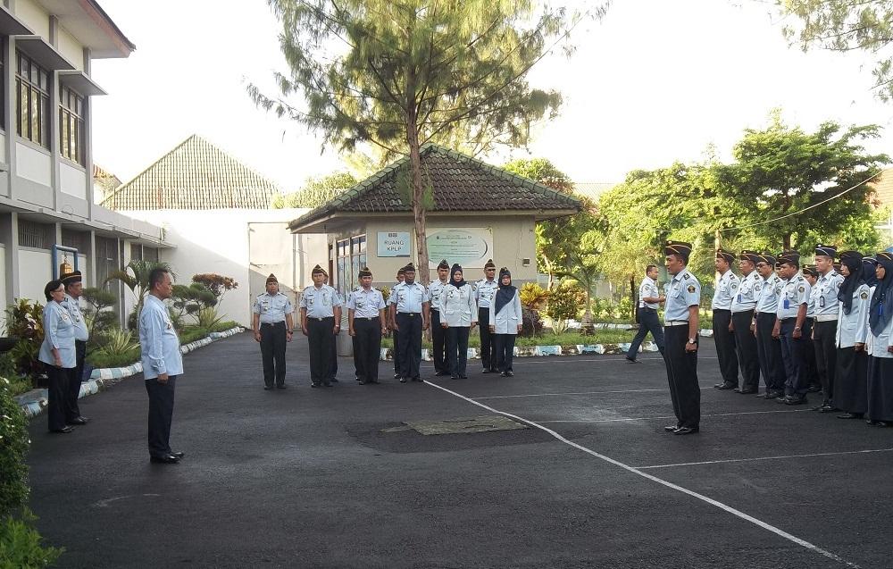 Kepala Kanwil Kemenkumham DIY Laksanakan Apel Pagi di Lapas Wirogunan