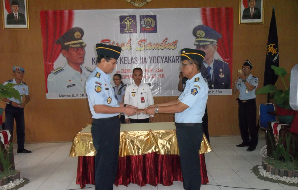 Serah Terima Jabatan KepalaLapas Wirogunan Yogyakarta  Suherman Melanjutkan Kepemimpinan Zaenal Arifin