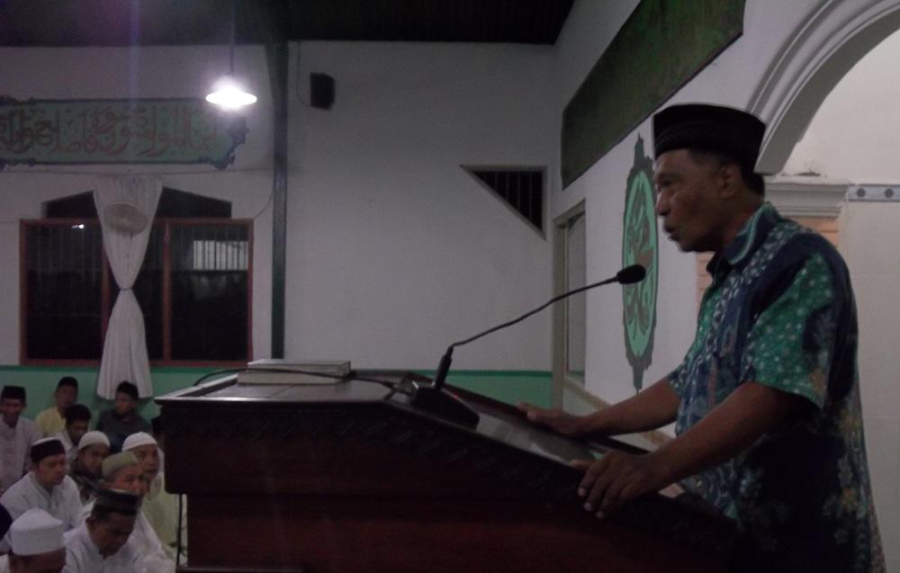 Suwanjono, Mantan Kasubsi Bimaswat Lapas Wirogunan  Mengisi Kultum Hari Pertama Sholat Tarawih