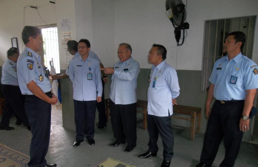 Staf Ahli Menteri Kemenkumham RI kunjungi Lapas Wirogunan
