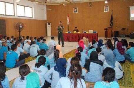 Dandim Yogyakarta Berikan Penyuluhan Wawasan Kebangsaan  Kepada WBP Lapas Wirogunan