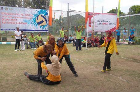 Srikandi Lapas Wirogunan Raih Juara II Kejuaraan Bola Voli