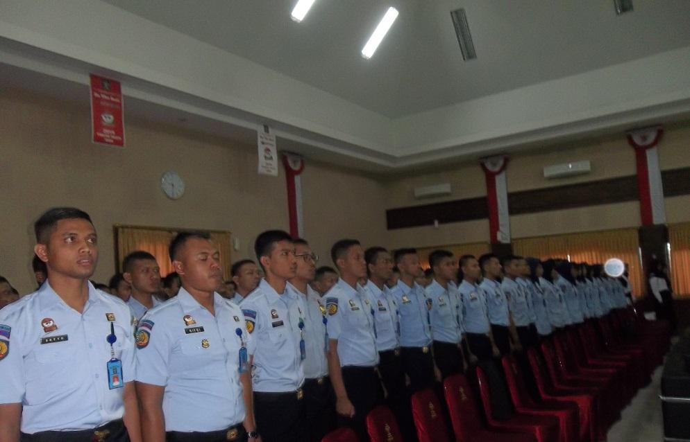 188 Pegawai Kanwil Kemenkumham DIY Lakukan Sumpah PNS  23 Diantaranya Mengabdi di Lapas Wirogunan Yogyakarta