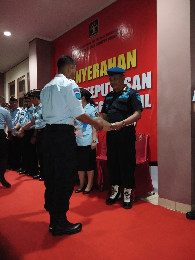 Kanwil Kemenkumham DIY Laksanakan  Pemberian SK PNS dan Pembaretan Kepada 188 CPNS 2017  23 Diantaranya Bertugas di Lapas Kelas IIA Yogyakarta