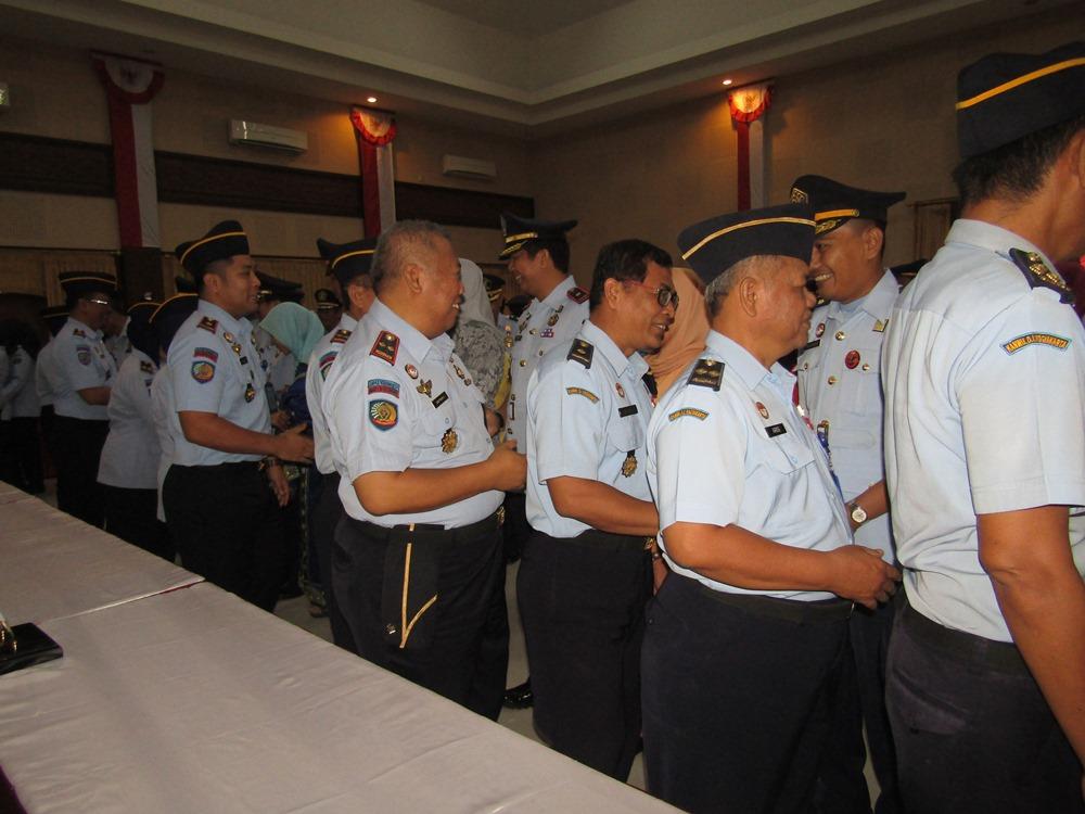 Tiga Pejabat Struktural Lapas Kelas IIA Yogyakarta  Dilantik Kepala Kanwil Kemenkumham DIY