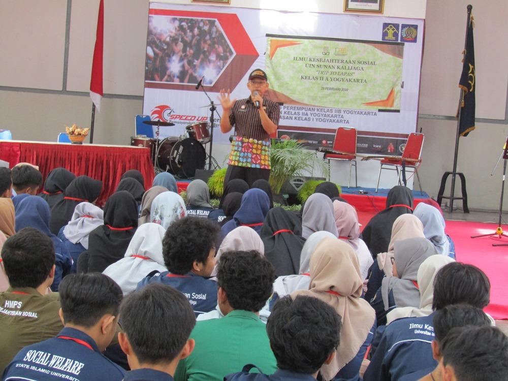 Mahasiswa UIN Sunan Kalijaga Melakukan Studi Pekerjaan Sosial  di Lapas Kelas Kelas IIA Yogyakarta