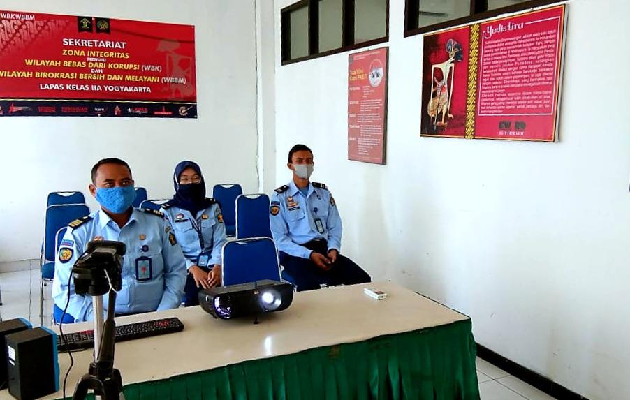 Tingkatkan Pelayanan Publik, Lapas Yogyakarta mengikuti Kegiatan Penguatan dari Sekretariat Jenderal