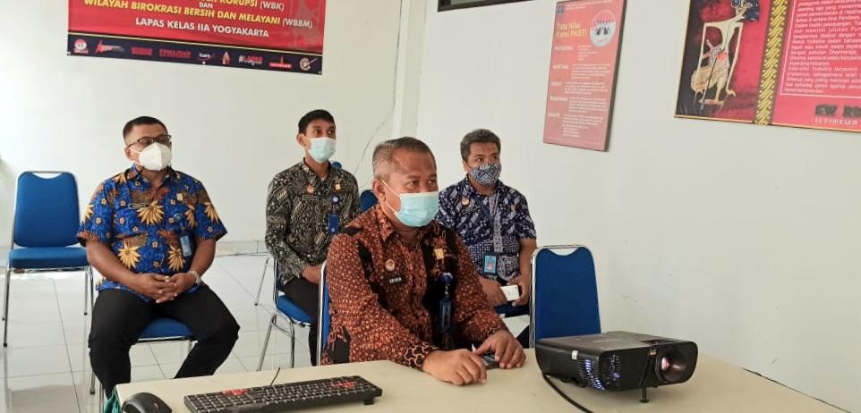 Menjelang HPN, Lapas Yogyakarta Ikuti Seminar Kemenkumham-PWI secara Daring