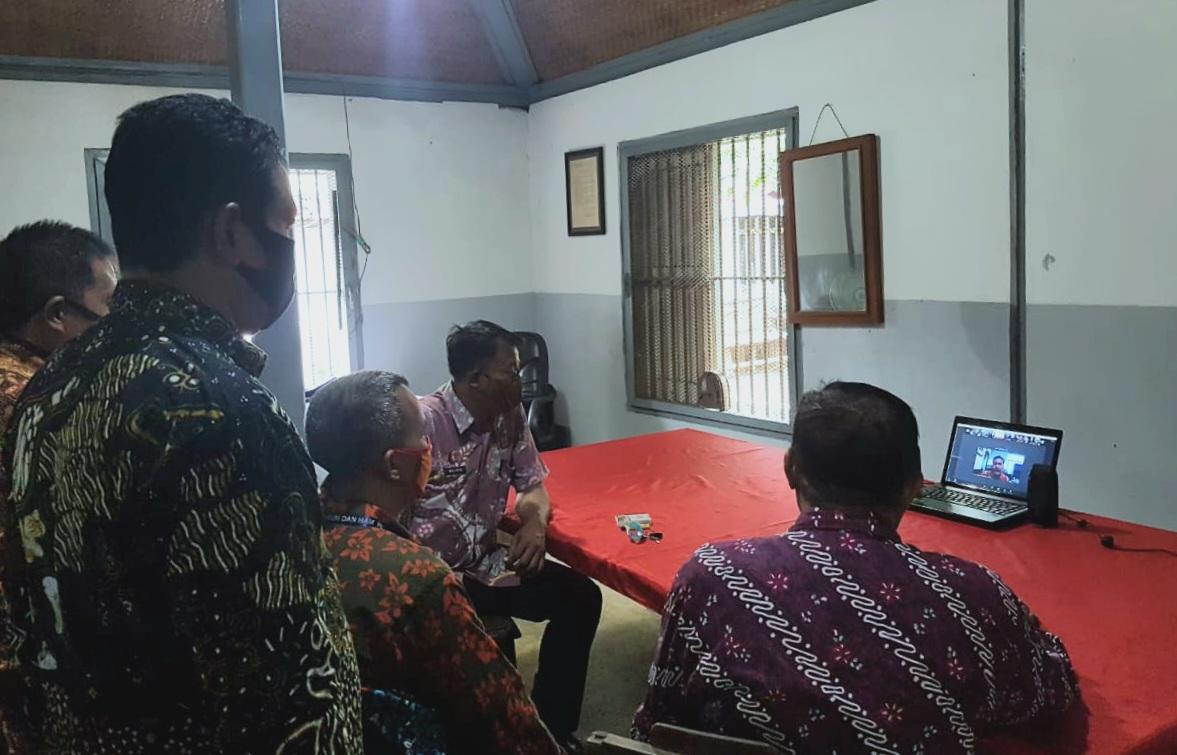 Meningkatkan Kualitas Pembinaan, Lapas Yogyakarta Ikuti Telekonferensi dengan Ditjenpas