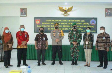 Saling Dukung Wujudkan WBK, Kalapas Saksikan Pencanangan ZI Kodim 0734 Yogyakarta