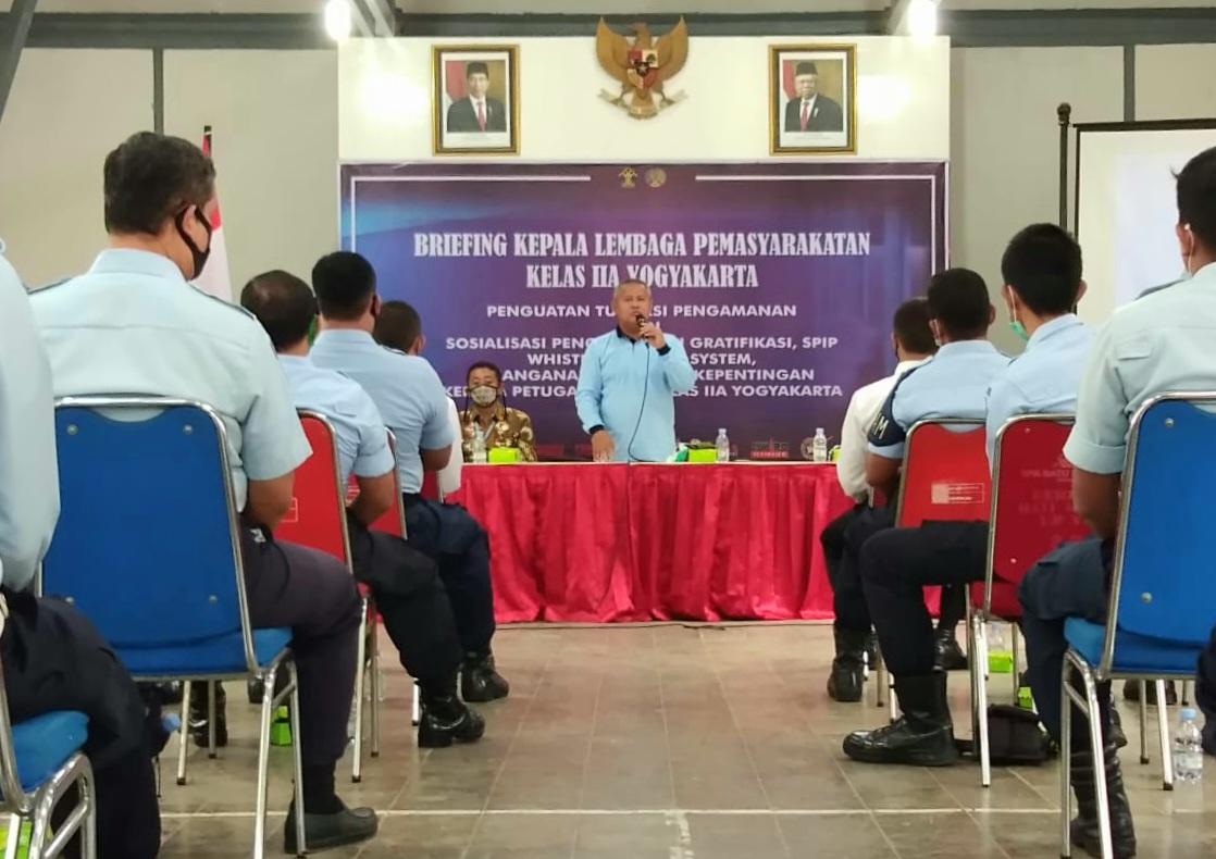 Briefing Kalapas Yogyakarta Tekankan Zero Halinar Dukung Pembangunan ZI
