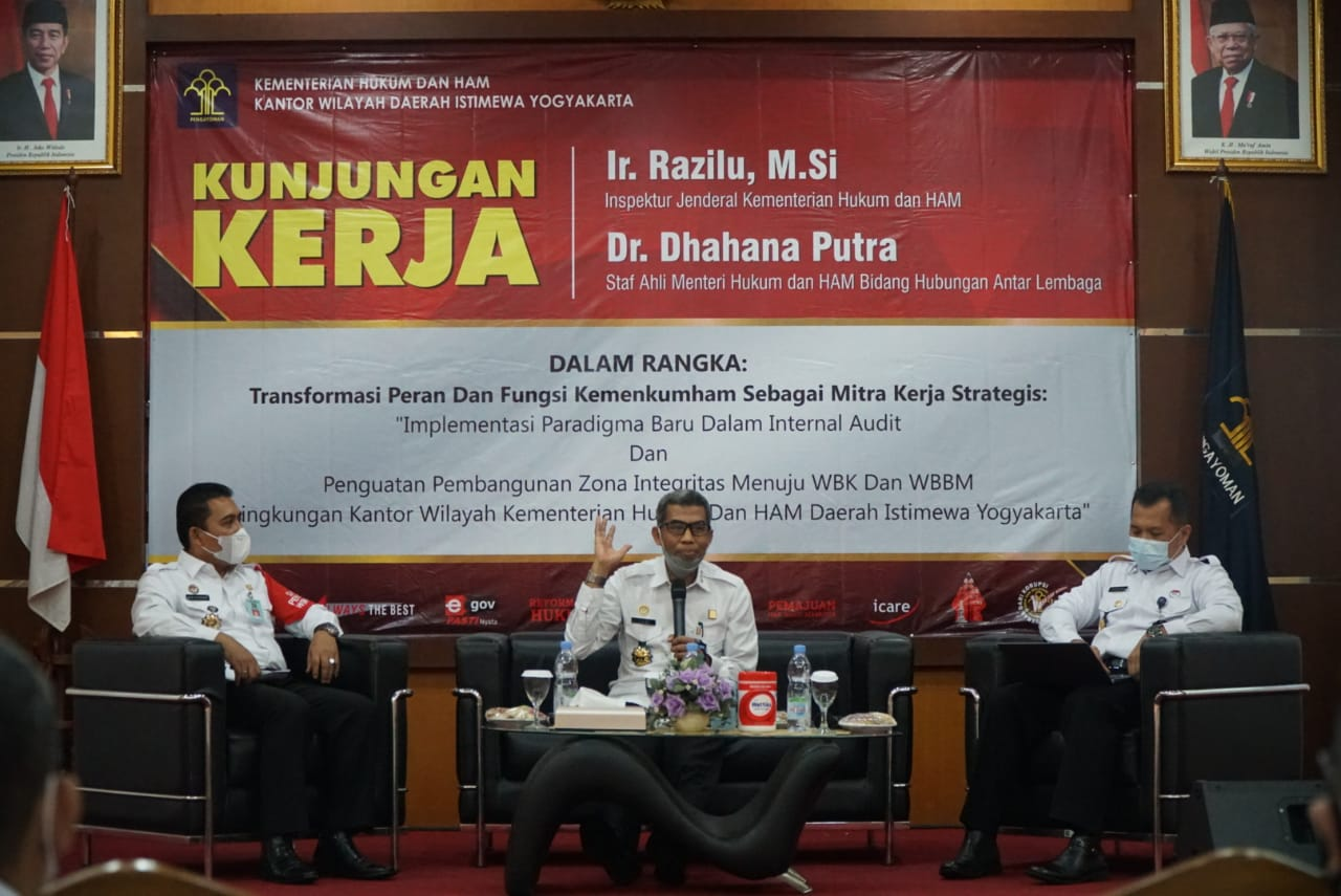Menuju WBK, Kalapas Yogyakarta Ikuti Arahan Inspektur Jenderal