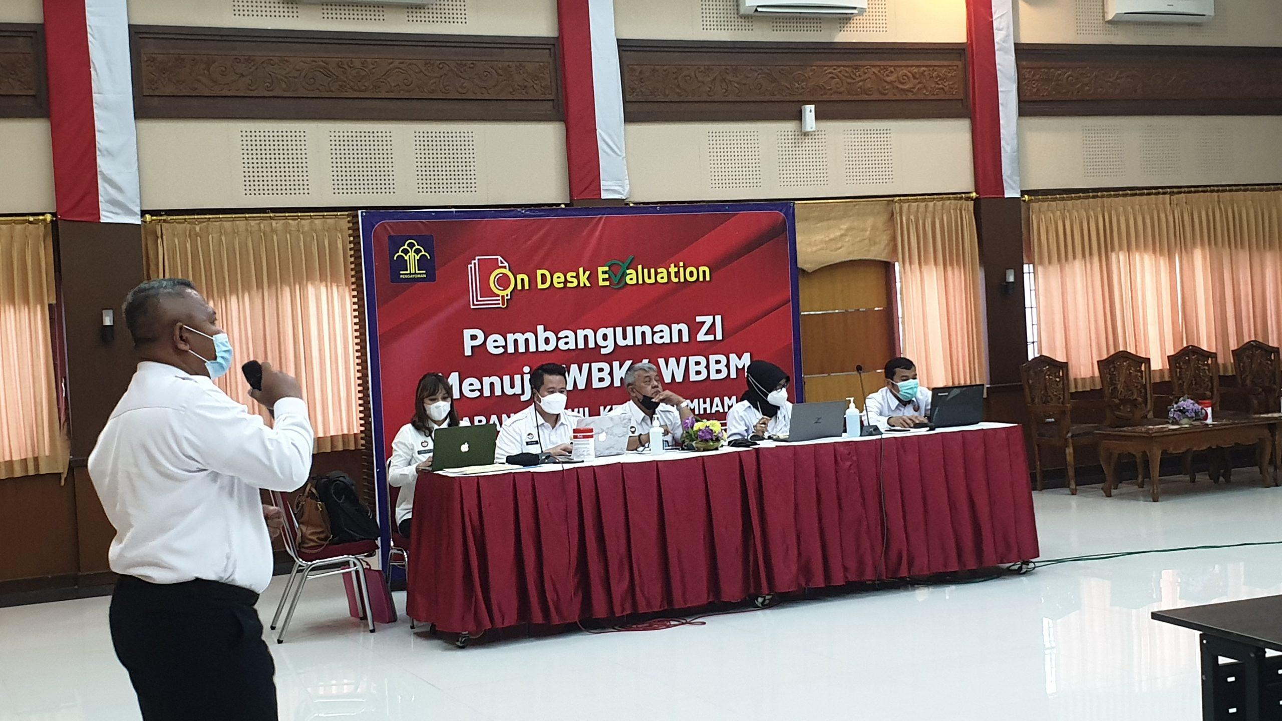 Tim Zona Integritas Lapas Yogyakarta ikuti Desk Evaluation oleh Tim Penilai Internal