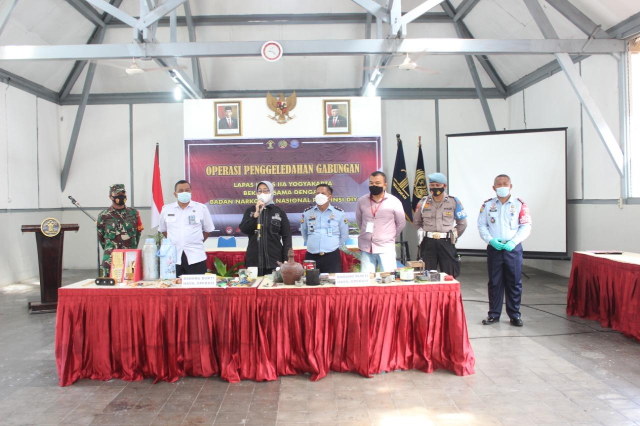 Razia Gabungan, Lapas Yogyakarta Konsisten Bebas dari Halinar