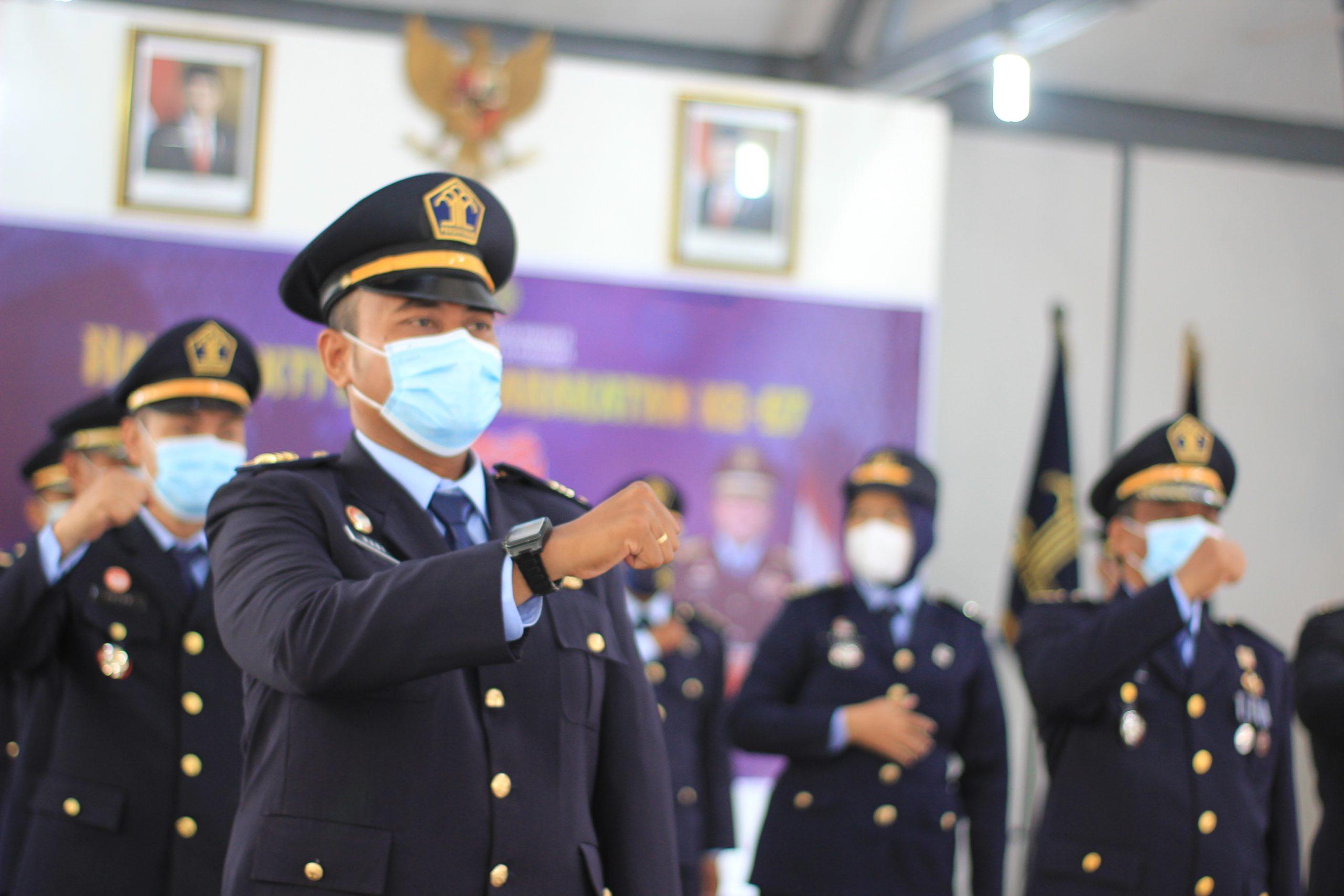 Jajaran Petugas Pemasyarakatan Lapas Yogyakarta Ikuti Upacara HBP ke-57 dengan Khidmat