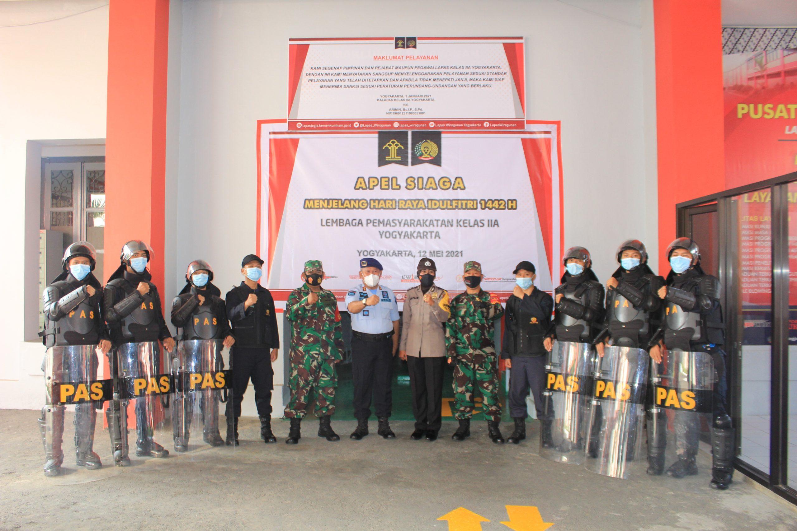 Sinergisitas antar Aparat Penegak Hukum, Polsek Pakualaman dan Koramil 05/ Pakualaman siap backup keamanan Lapas Yogyakarta |