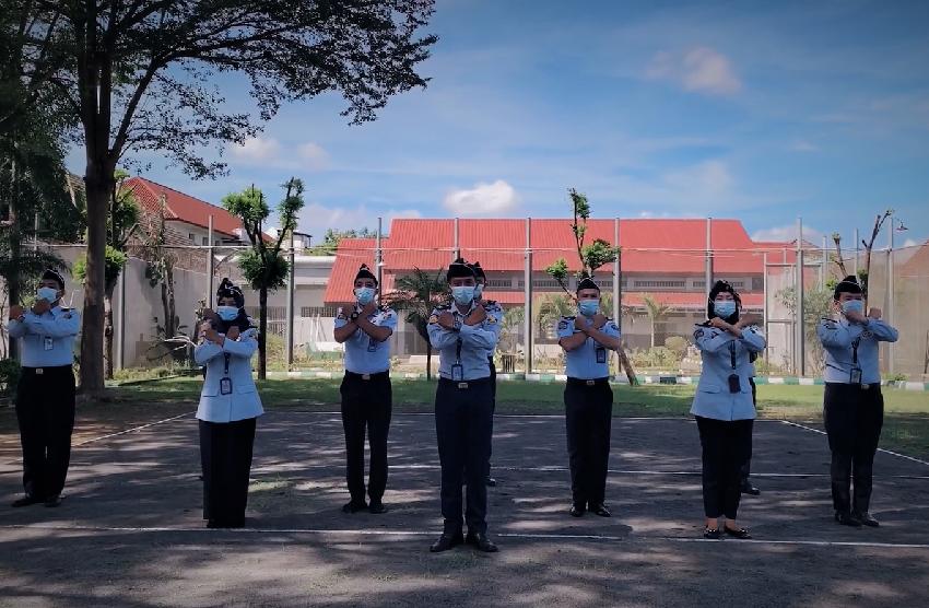 Yel-Yel Lapas Yogyakarta Menuju WBK 2021