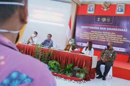Kunker Kemenko Polhukam di Lapas Yogyakarta, Monitoring dan Koordinasi Pengawasan Narkoba